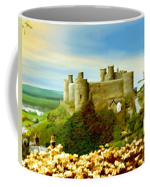 Castles Coffee Mug featuring the photograph Harlech Castle by Kurt Van Wagner