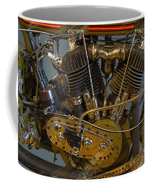 1918 Coffee Mug featuring the photograph Harley 1918 Cycle Engine by Nick Gray