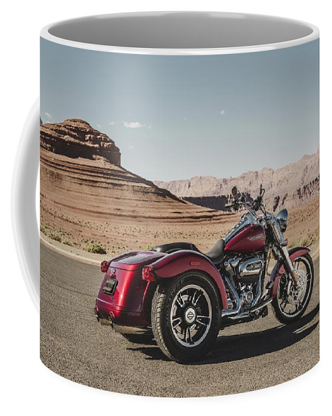 Harley-davidson Freewheeler Coffee Mug featuring the digital art Harley-davidson Freewheeler by Super Lovely