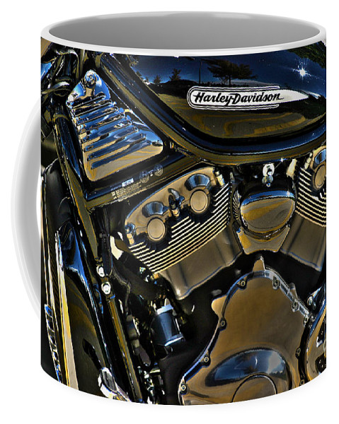 Harley Coffee Mug featuring the photograph Harley Power Plant by Alan Look