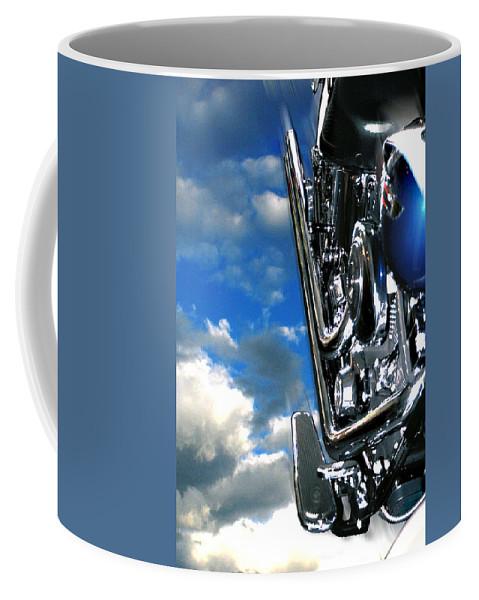 Motor Cycle Coffee Mug featuring the photograph Harley by Steve Karol