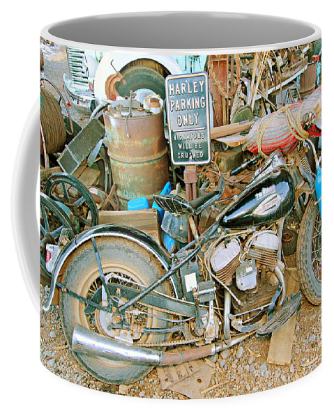 Fun Coffee Mug featuring the photograph Harley's Only by Paul Fell