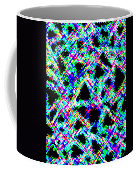 Abstract Coffee Mug featuring the digital art Harmony 18 by Will Borden