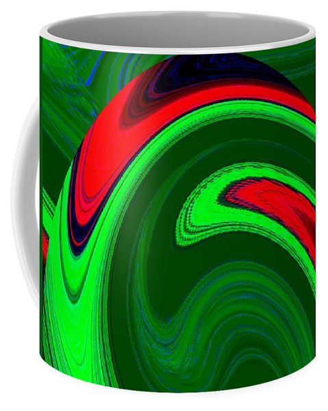 Abstract Coffee Mug featuring the digital art Harmony 20 by Will Borden