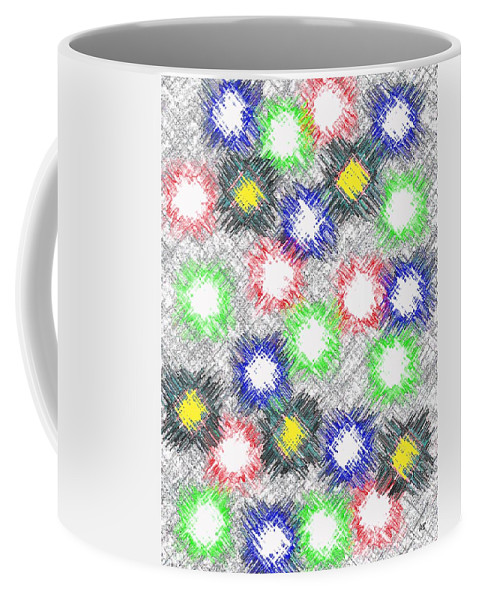 Abstract Coffee Mug featuring the digital art Harmony 32 by Will Borden