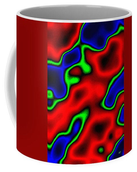 Abstract Coffee Mug featuring the digital art Harmony 35 by Will Borden