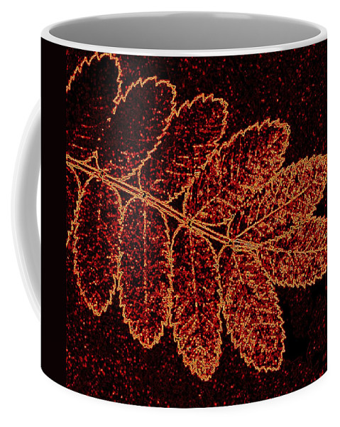Abstract Coffee Mug featuring the digital art Harmony 9 by Will Borden