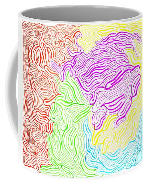 Mazes Coffee Mug featuring the drawing Harmony Magnified by Steven Natanson