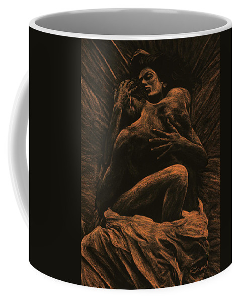 Nude Coffee Mug featuring the pastel Harmony by Richard Young