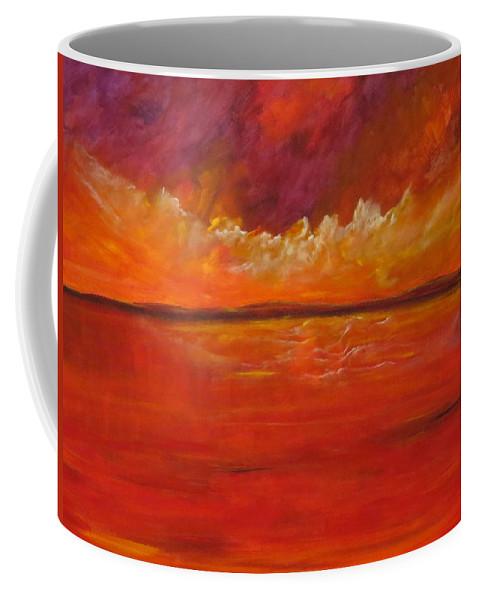 Abstract Coffee Mug featuring the painting Harmony by Soraya Silvestri