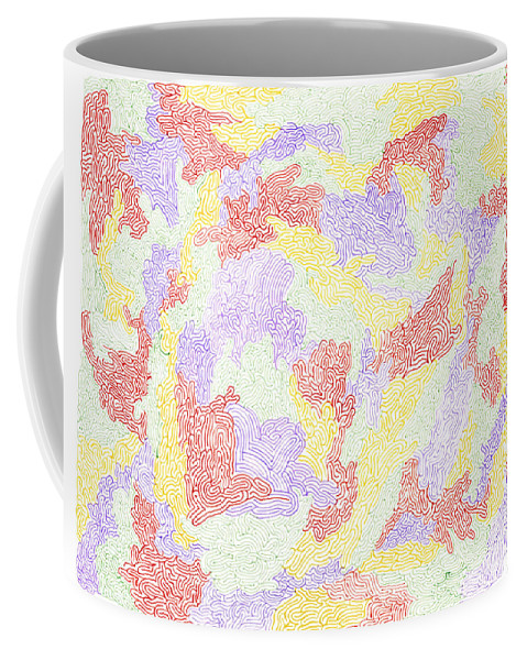 Mazes Coffee Mug featuring the drawing Harmony by Steven Natanson
