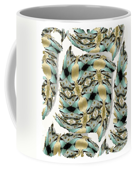 Abstract Coffee Mug featuring the digital art Harnesses Plus by Ron Bissett