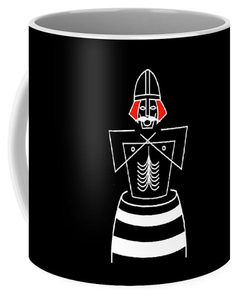 Bluetooth Coffee Mug featuring the mixed media Harold Bluetooth by Asbjorn Lonvig
