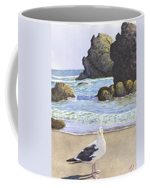 Oregon Coast Coffee Mug featuring the painting Harris Beach by Catherine G McElroy