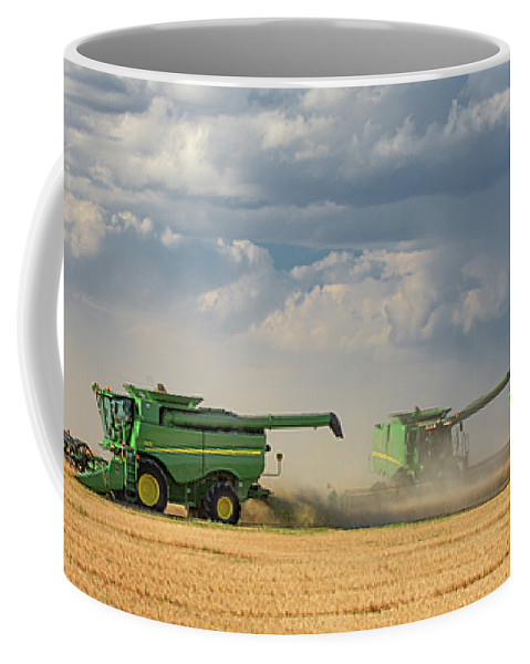 John Deere Coffee Mug featuring the photograph Harvest Clouds by Todd Klassy