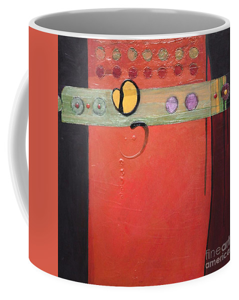 Abstract Coffee Mug featuring the painting Harvest Duo 2 by Marlene Burns