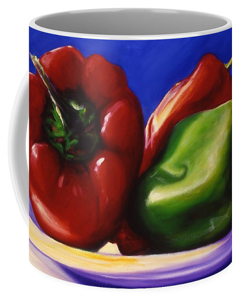 Still Life Coffee Mug featuring the painting Harvest Festival Peppers by Shannon Grissom