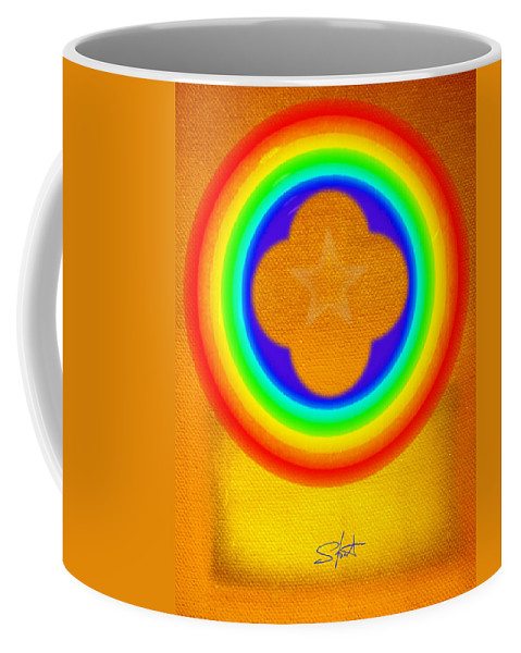 Abstract Coffee Mug featuring the painting Harvest Gold by Charles Stuart