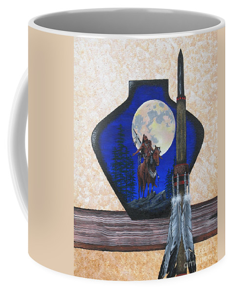 Harvest Moon Coffee Mug featuring the painting Harvest Moon by Beatrice Vinson