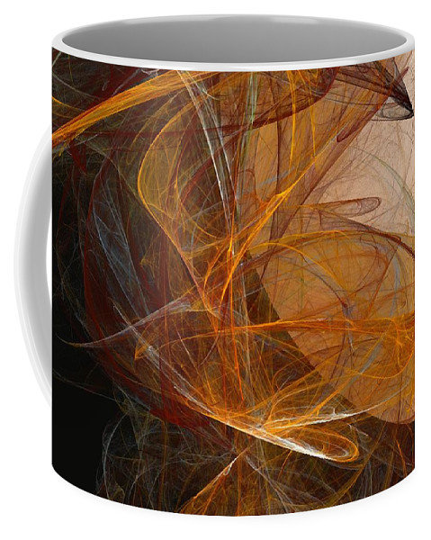 Abstract Expressionism Coffee Mug featuring the digital art Harvest Moon by David Lane