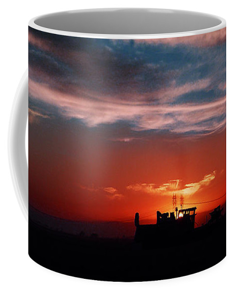 Sunset Coffee Mug featuring the photograph Harvest by Peter Piatt