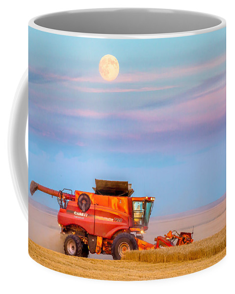 Combine Coffee Mug featuring the photograph Harvest Supermoon by Todd Klassy