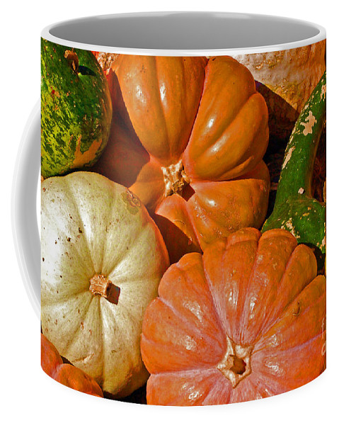 Squash Coffee Mug featuring the photograph Harvest Time by Debbi Granruth