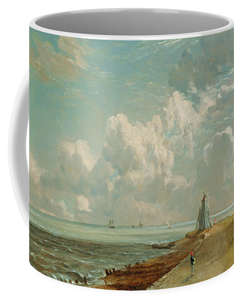 Harwich Coffee Mug featuring the painting Harwich - The Low Lighthouse And Beacon Hill by John Constable