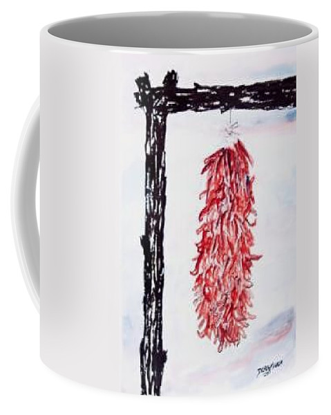 Watercolor Painting Coffee Mug featuring the painting Hatch Texas Chili Pepper Painting by Derek Mccrea