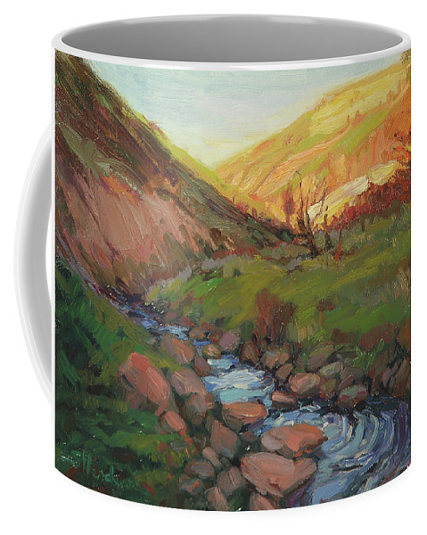Country Coffee Mug featuring the painting Hatley Gulch by Steve Henderson