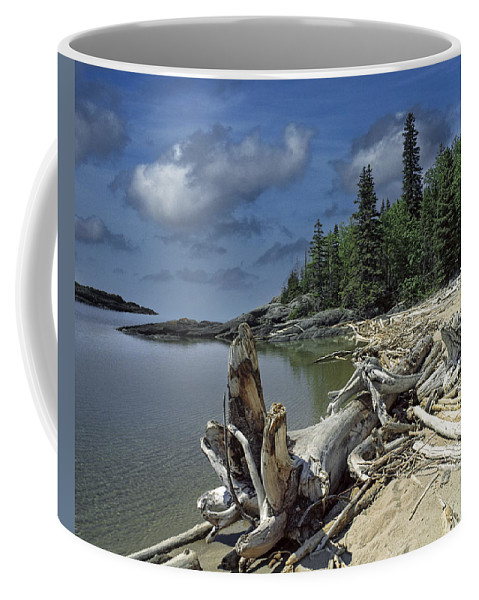 Bay Coffee Mug featuring the photograph Hattie's Bay In Pukaskwa National Park Ontario by Randall Nyhof