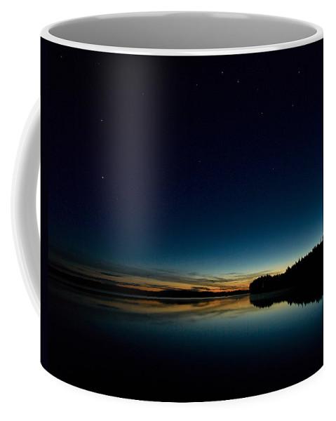 Haukkajarvi Coffee Mug featuring the photograph Haukkajarvi By Night With Ursa Major 1 by Jouko Lehto