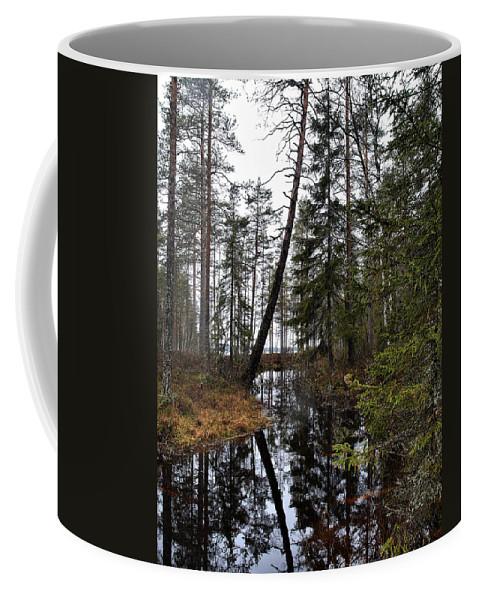 Lehtokukka Coffee Mug featuring the photograph Haukkajoki by Jouko Lehto