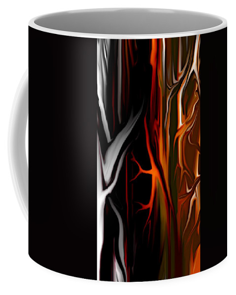 Abstract Digital Painting Coffee Mug featuring the digital art Haunted by David Lane