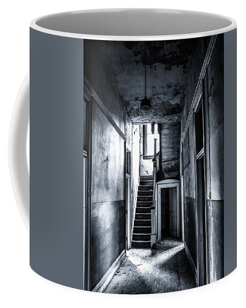 Haunted Coffee Mug featuring the photograph Haunted Hallway by SC Shank
