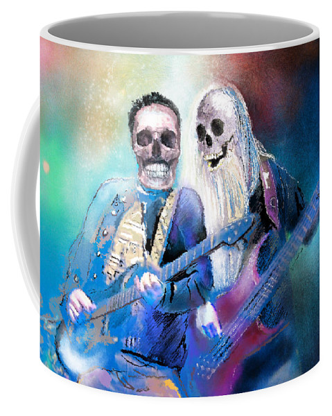 Halloween Coffee Mug featuring the painting Have A Rocking Halloween by Miki De Goodaboom
