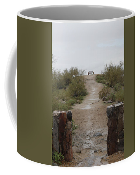 Bench Coffee Mug featuring the photograph Have A Seat by Lauri Novak