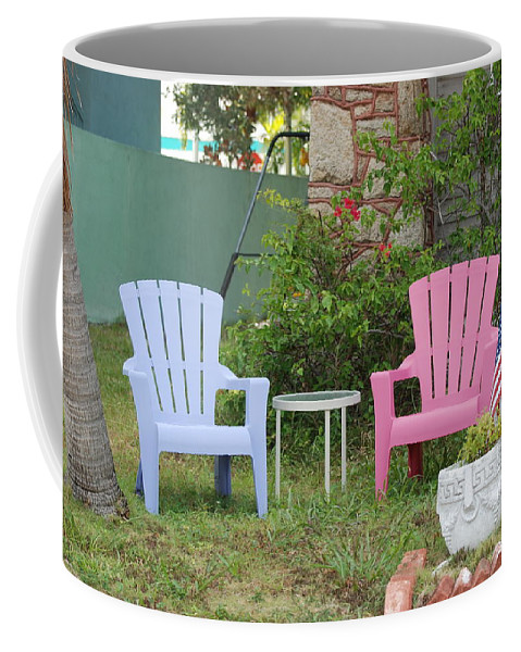 Art Deco Coffee Mug featuring the photograph Have A Seat by Rob Hans