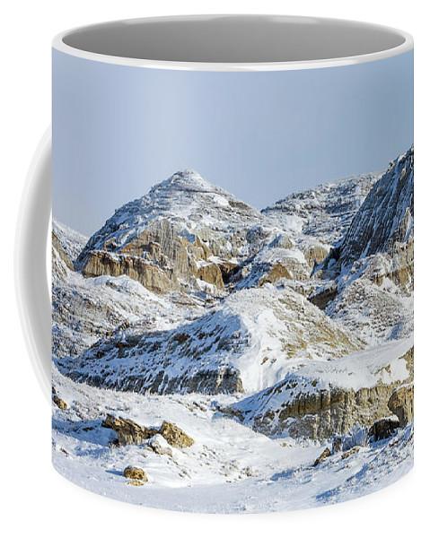 Badlands Coffee Mug featuring the photograph Havre Badlands No. 1 by Todd Klassy