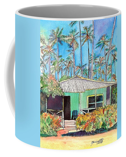 Cottage Coffee Mug featuring the painting Hawaiian Cottage I by Marionette Taboniar