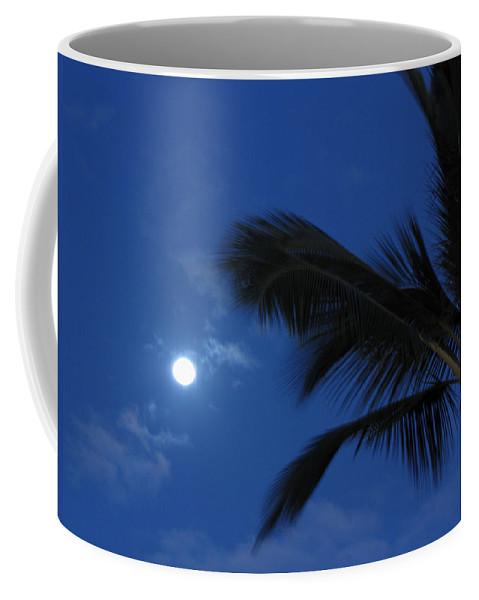 Moon Coffee Mug featuring the photograph Hawaiian Moon by Sarah Houser
