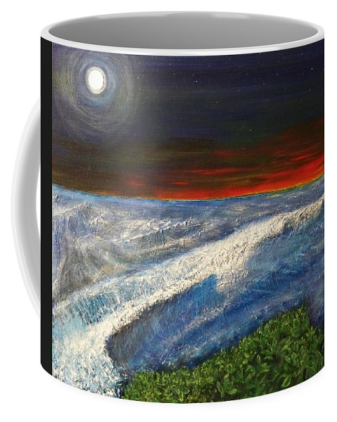 Beaches Coffee Mug featuring the painting Hawiian View by Michael Cuozzo