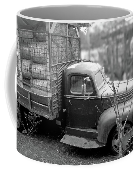 Old Coffee Mug featuring the photograph Hay Truck by Wayne Archer