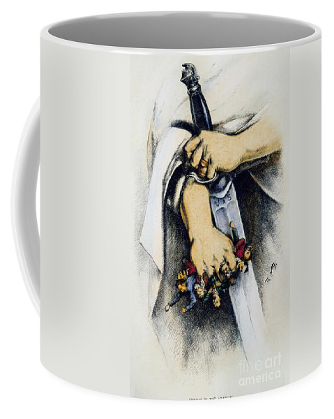 1886 Coffee Mug featuring the photograph Haymarket Trial, 1886 by Granger