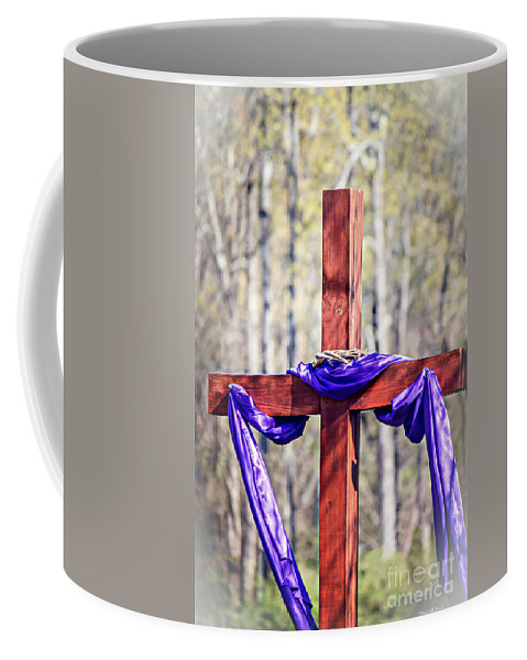 Cross Coffee Mug featuring the photograph He Is Risen by Tracy Brock
