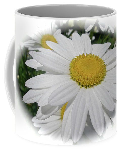 Oxeye Coffee Mug featuring the photograph He Loves Me - He Loves Me Not by Mother Nature