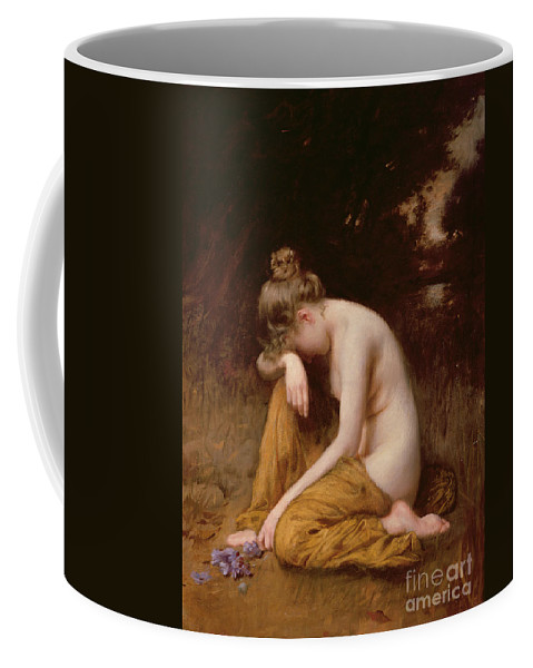 Nude Coffee Mug featuring the painting He Loves Me He Loves Me Not by Robert Fowler