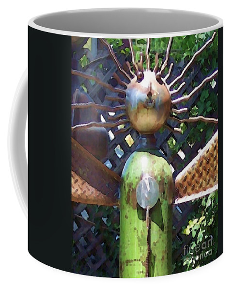 Sculpture Coffee Mug featuring the photograph Head For Detail by Debbi Granruth