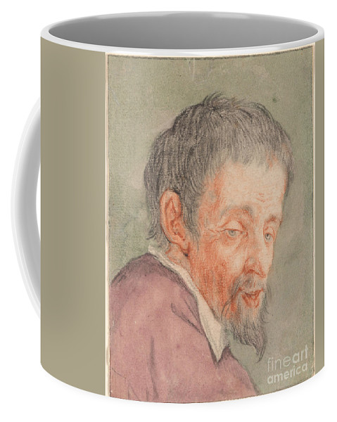 Cornelis Dusart Coffee Mug featuring the painting Head Of A Man With A Short Beard by Celestial Images