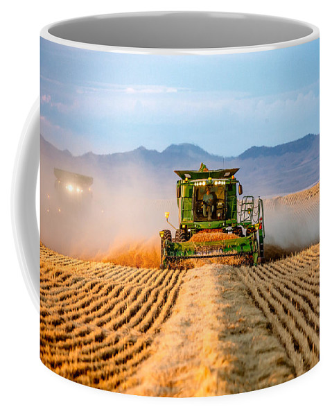 Wheat Coffee Mug featuring the photograph Head On by Todd Klassy